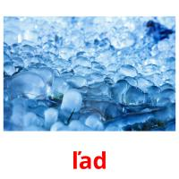 ľad picture flashcards