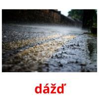 dážď picture flashcards