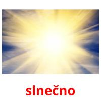 slnečno picture flashcards