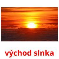 východ slnka picture flashcards