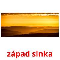 západ slnka picture flashcards