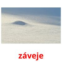 záveje picture flashcards