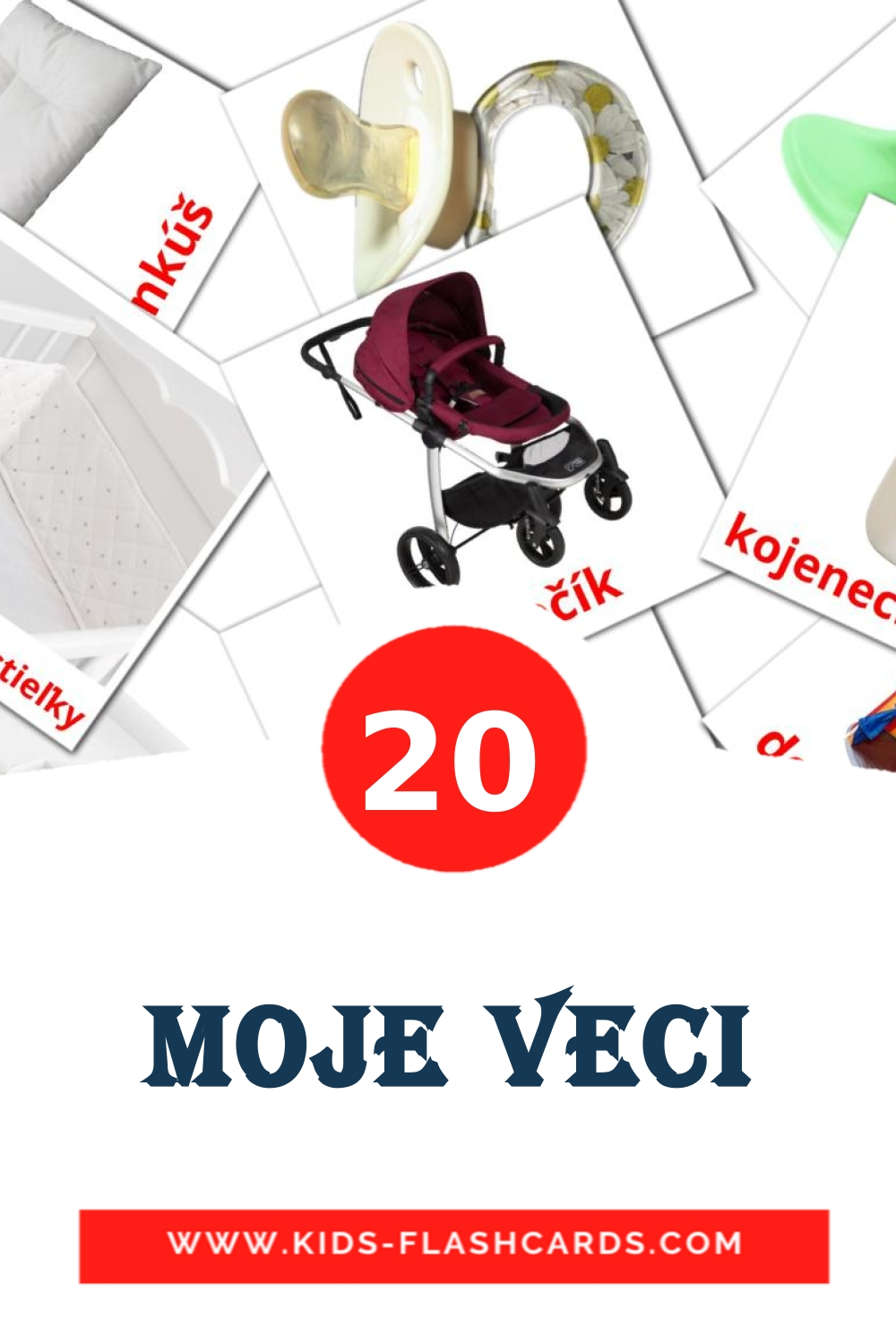 20 Moje veci Picture Cards for Kindergarden in slovak