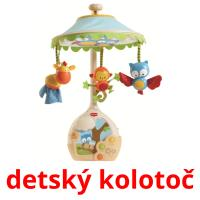 detský kolotoč card for translate