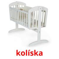 kolíska picture flashcards