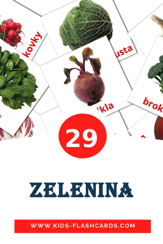 29 Zelenina Picture Cards for Kindergarden in slovak
