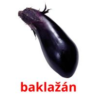 baklažán picture flashcards
