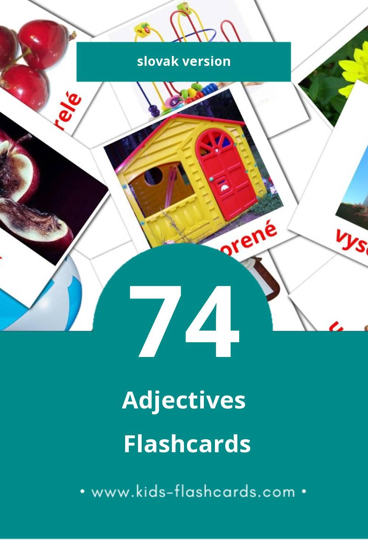 Visual prídavné mená Flashcards for Toddlers (74 cards in Slovak)