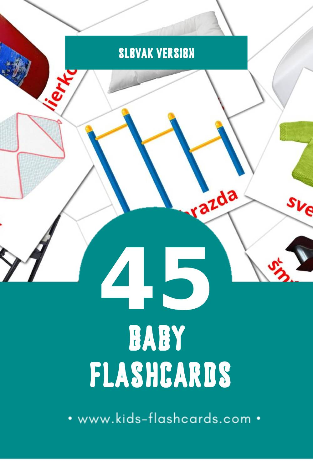 Visual dieta Flashcards for Toddlers (45 cards in Slovak)