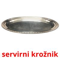 servirni krožnik picture flashcards