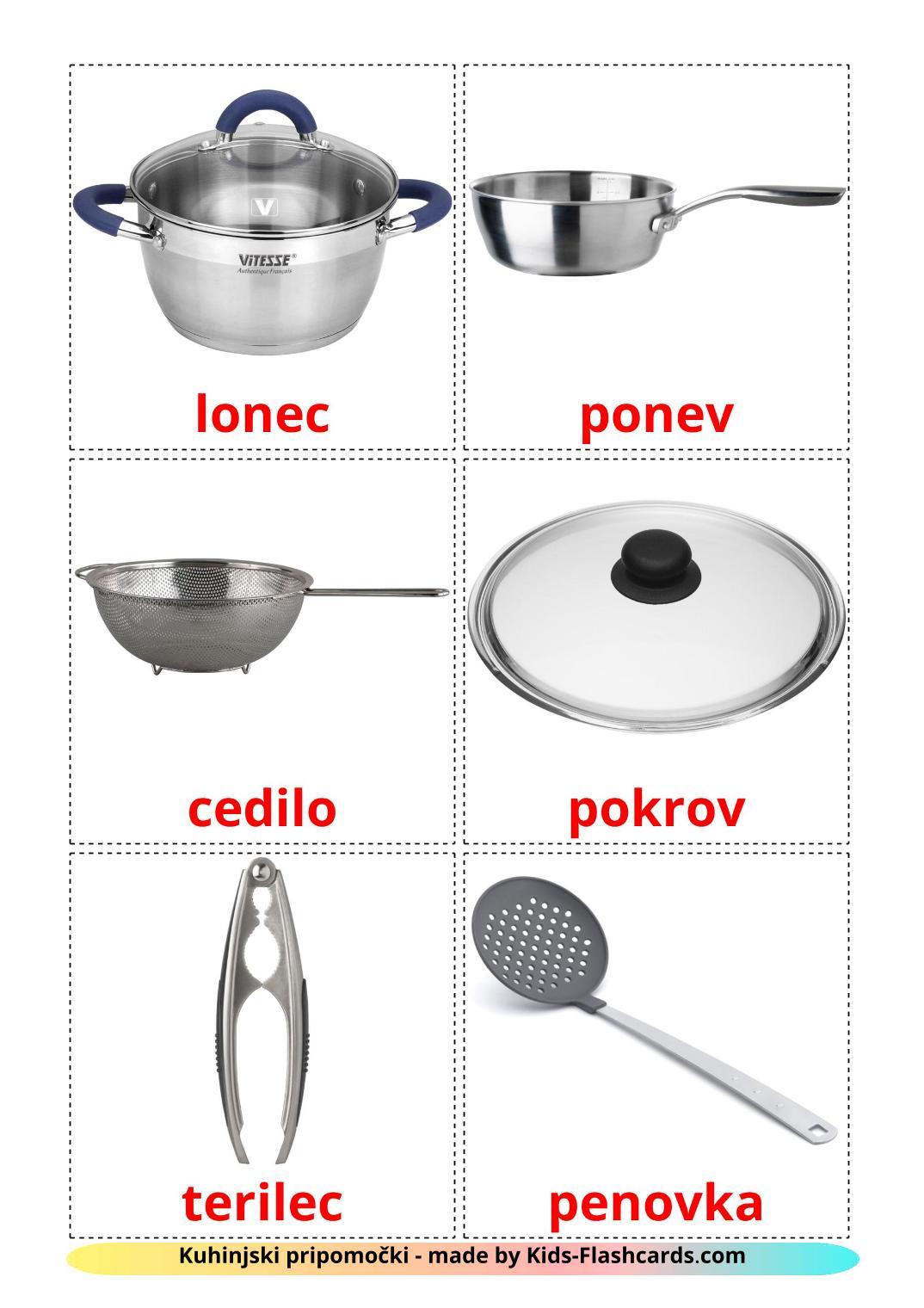 Kitchenware - 35 Free Printable slovenian Flashcards