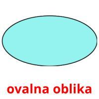 ovalna oblika picture flashcards