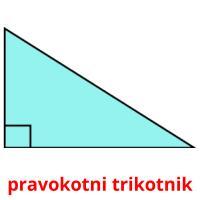 pravokotni trikotnik picture flashcards
