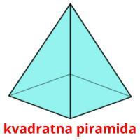 kvadratna piramida picture flashcards