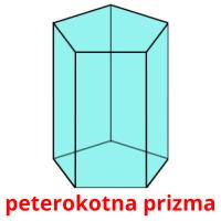 peterokotna prizma picture flashcards