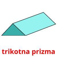 trikotna prizma picture flashcards