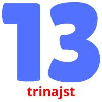 trinajst picture flashcards