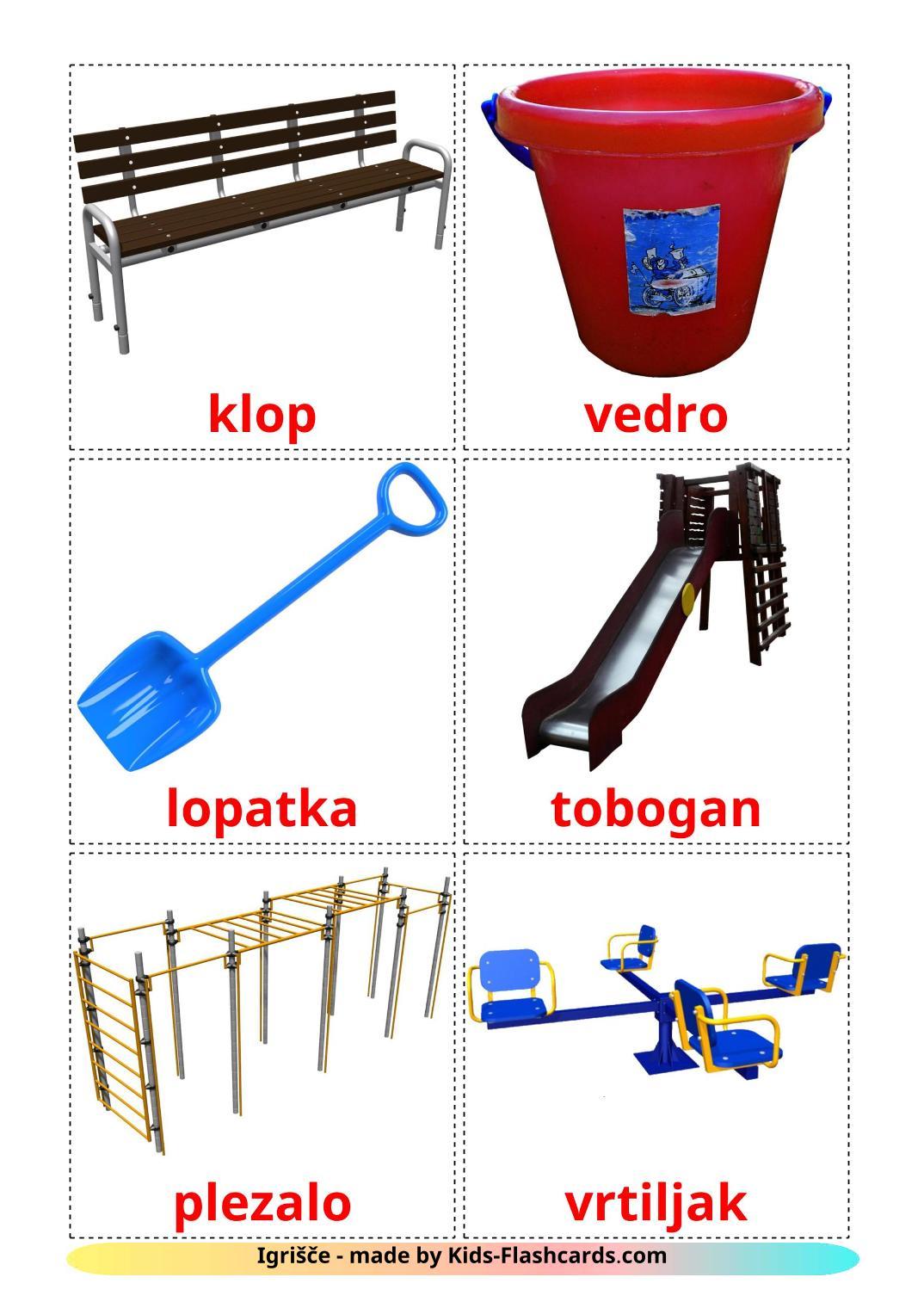 Playground - 13 Free Printable slovenian Flashcards