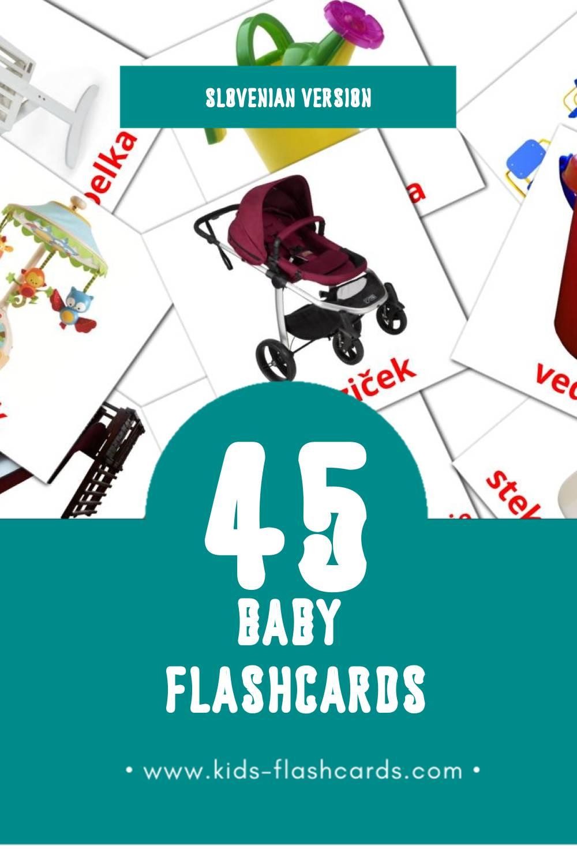 Visual Dojenček Flashcards for Toddlers (45 cards in Slovenian)