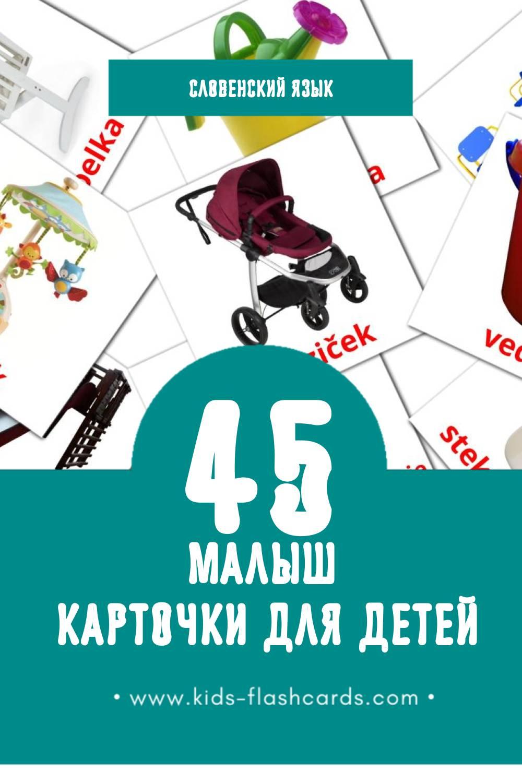 """""""Dojenček"""" - Визуальный Словенском Словарь для Малышей (45 картинок)"""