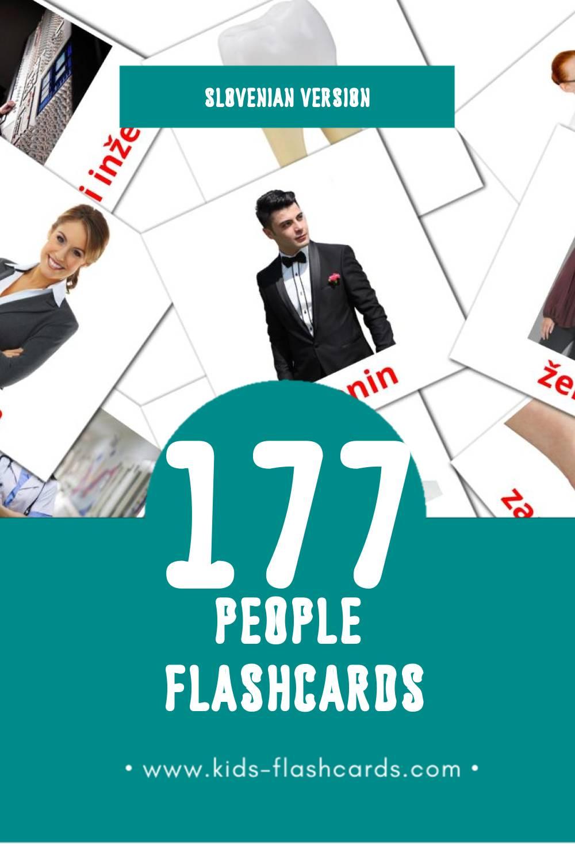 Visual Ljudje Flashcards for Toddlers (145 cards in Slovenian)