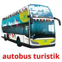 autobus turistik picture flashcards