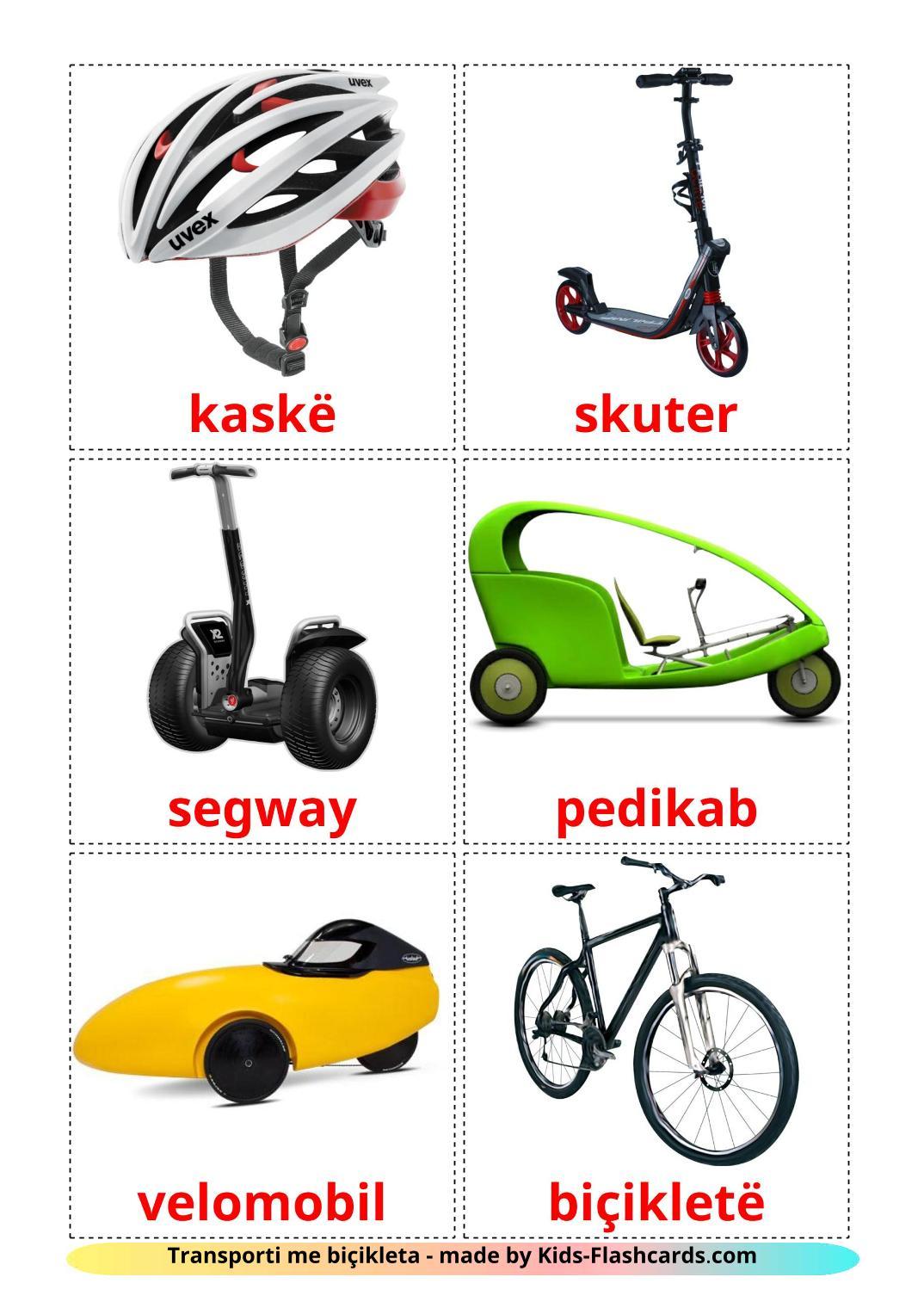Bicycle transport - 16 Free Printable albanian Flashcards