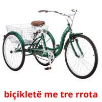 biçikletë me tre rrota picture flashcards