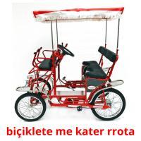 biçiklete me kater rrota picture flashcards