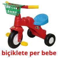 biçiklete per bebe picture flashcards
