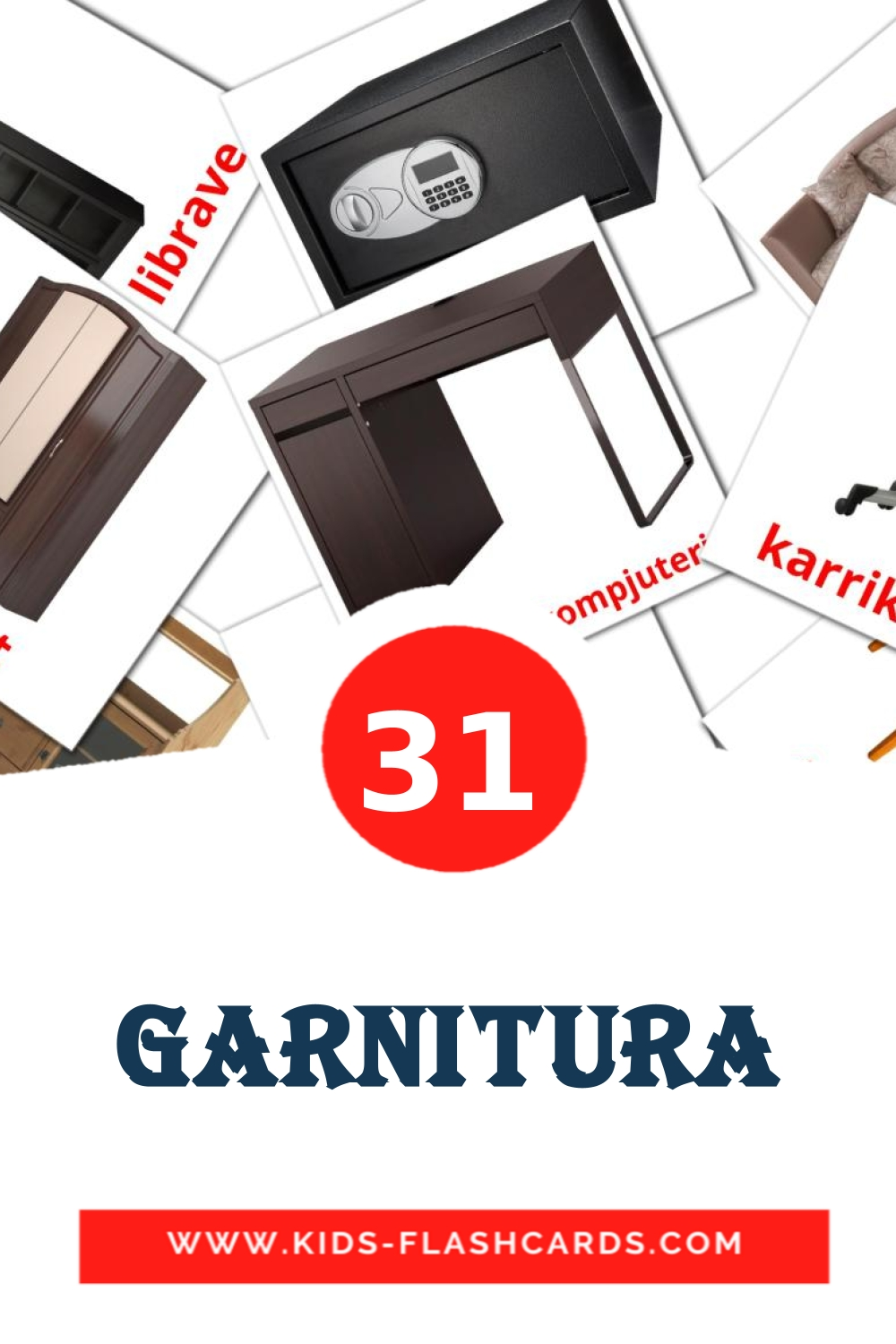 31 Garnitura Picture Cards for Kindergarden in albanian