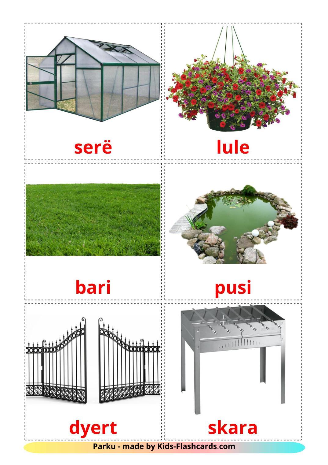 Garden - 18 Free Printable albanian Flashcards