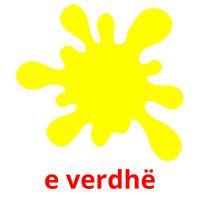e verdhë picture flashcards