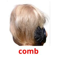 comb picture flashcards