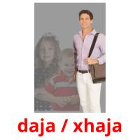 daja / xhaja picture flashcards