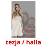 tezja / halla picture flashcards