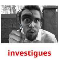 investigues picture flashcards