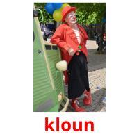 kloun picture flashcards