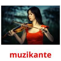 muzikante picture flashcards