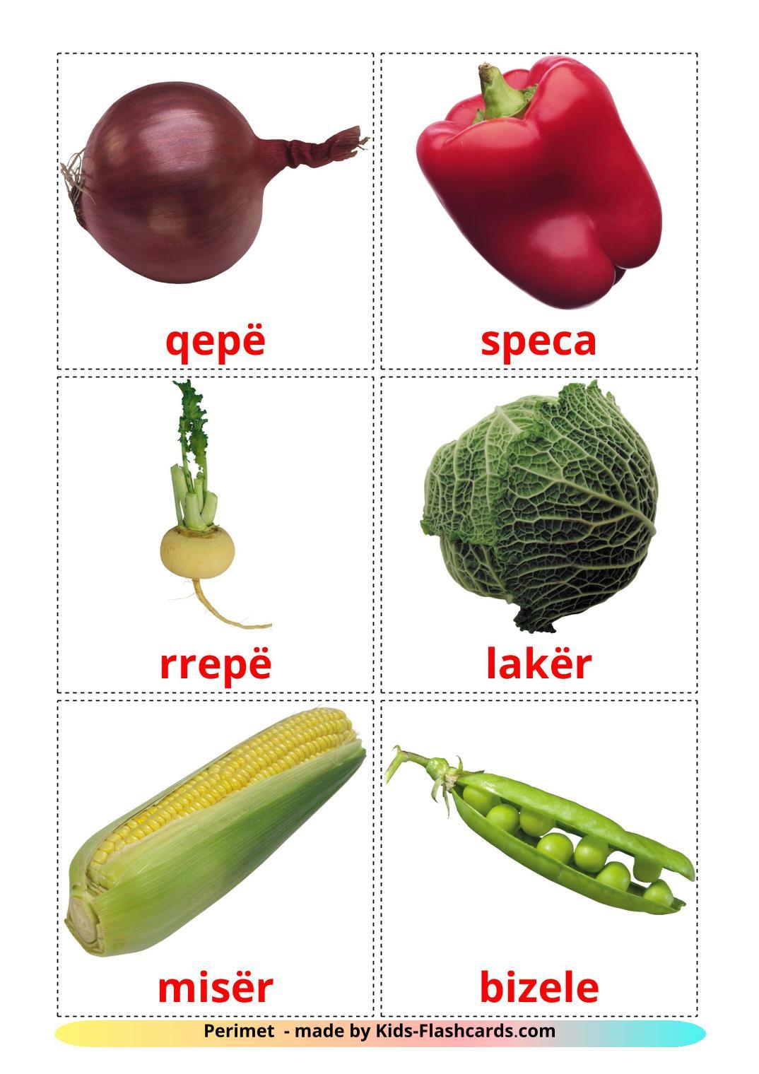 Vegetables - 29 Free Printable albanian Flashcards