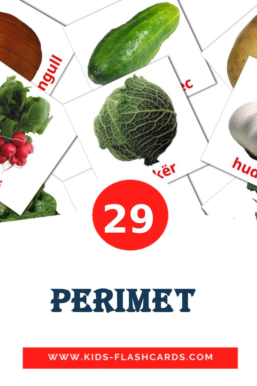 29 Perimet  Picture Cards for Kindergarden in albanian