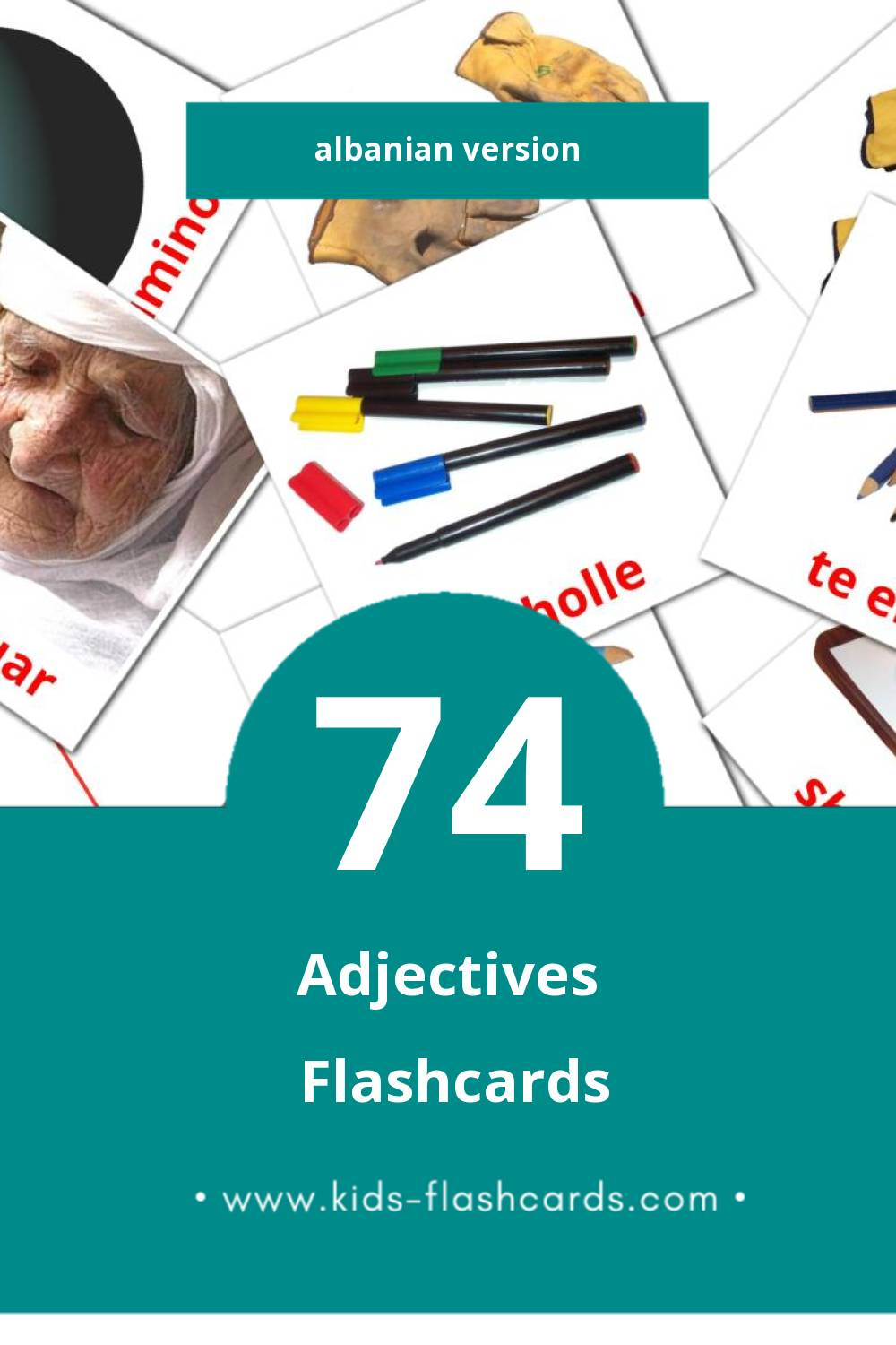 Visual Te kundertat Flashcards for Toddlers (74 cards in Albanian)