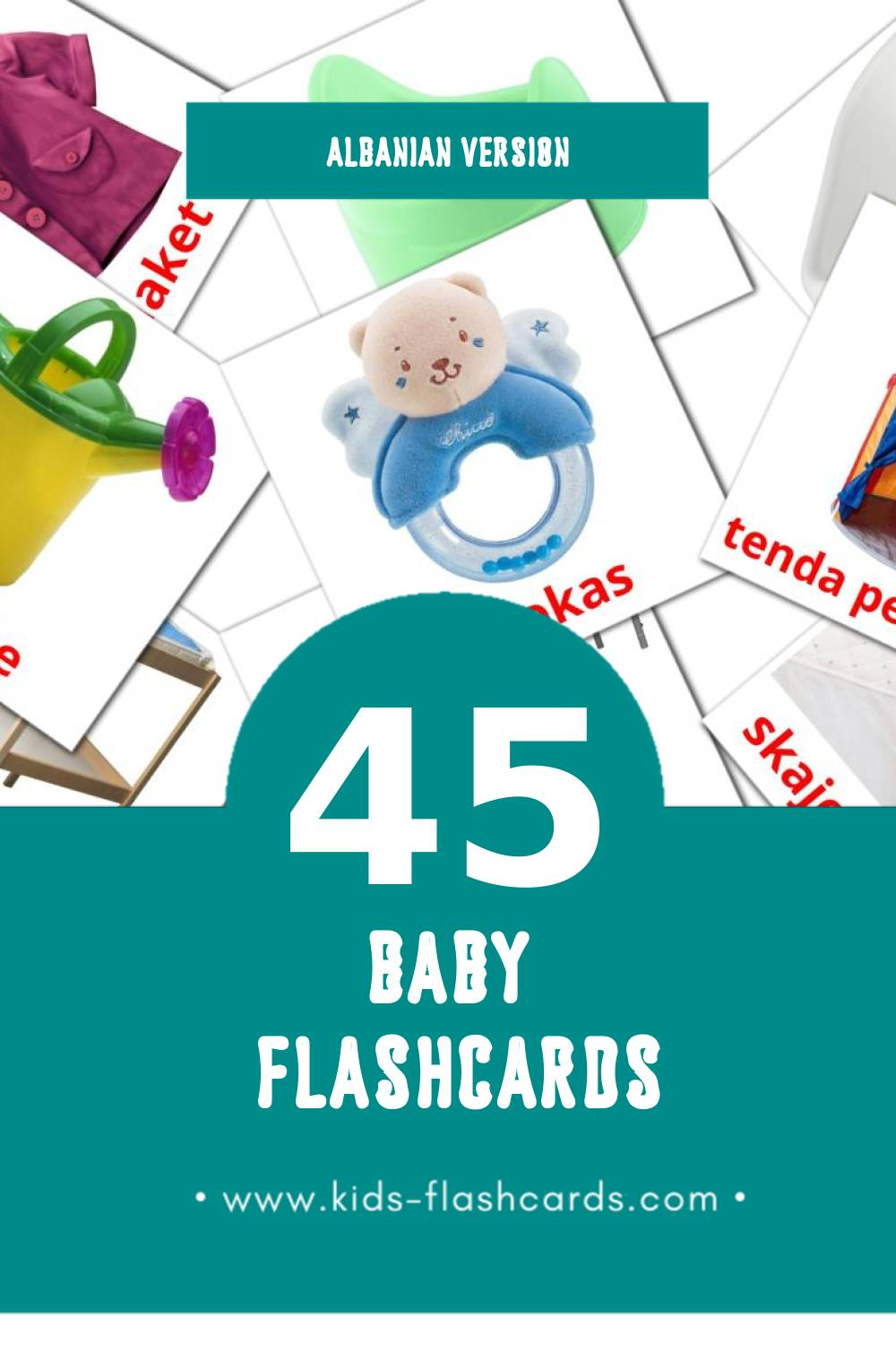 Visual rroba Flashcards for Toddlers (12 cards in Albanian)