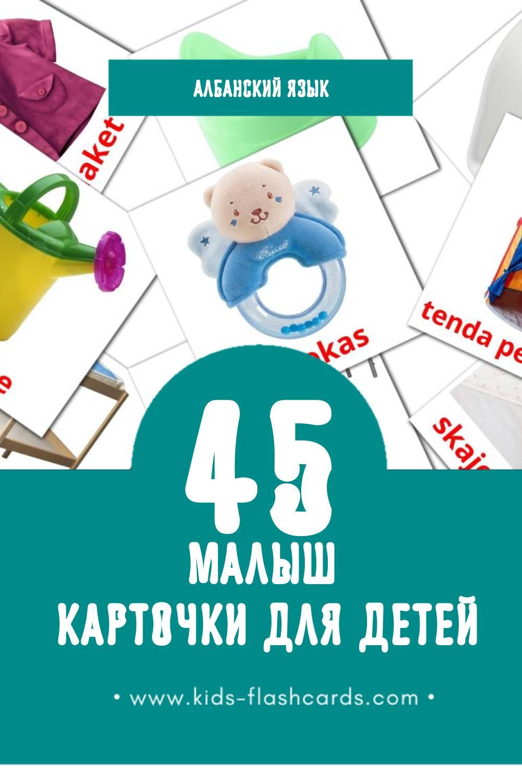 """""""rroba"""" - Визуальный Албанском Словарь для Малышей (12 картинок)"""