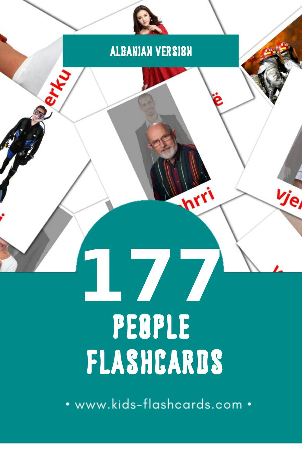 Visual Njerezit Flashcards for Toddlers (90 cards in Albanian)