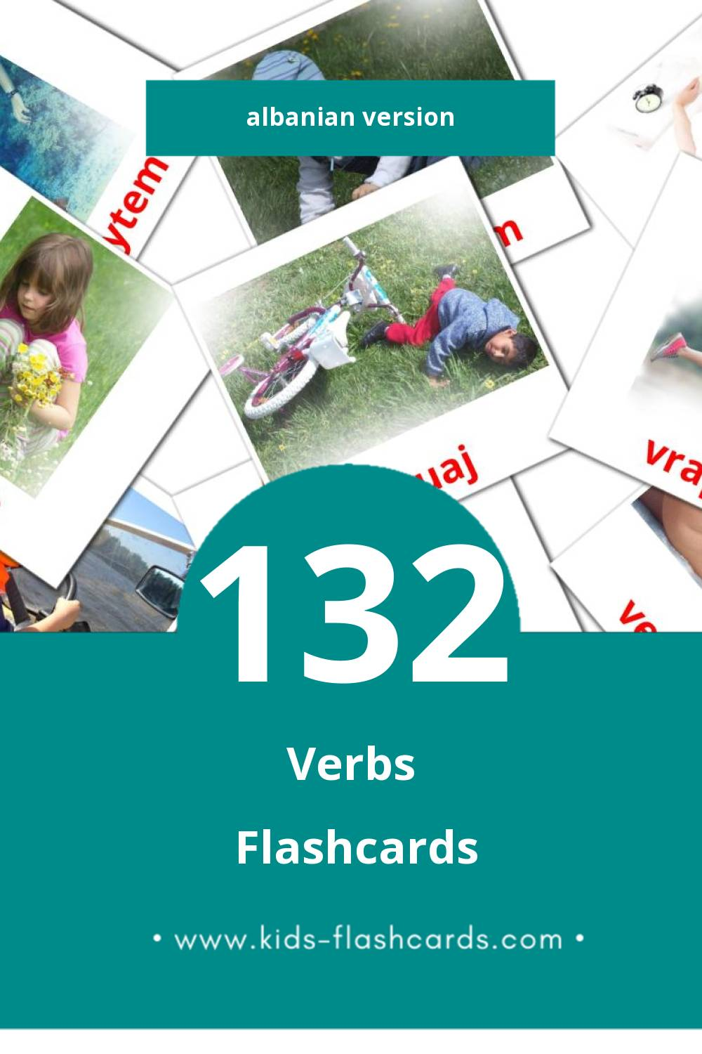 Visual Folje Flashcards for Toddlers (77 cards in Albanian)
