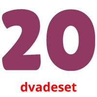 dvadeset picture flashcards