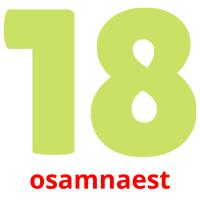 osamnaest picture flashcards