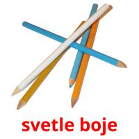 svetle boje picture flashcards