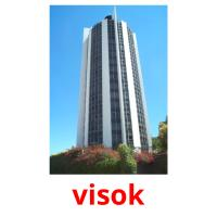 visok picture flashcards